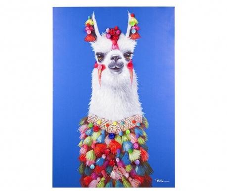 Картина Llama 70x100 см