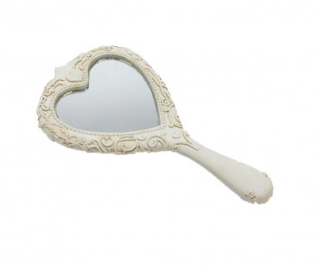 Ručné zrkadlo Manon Matt White