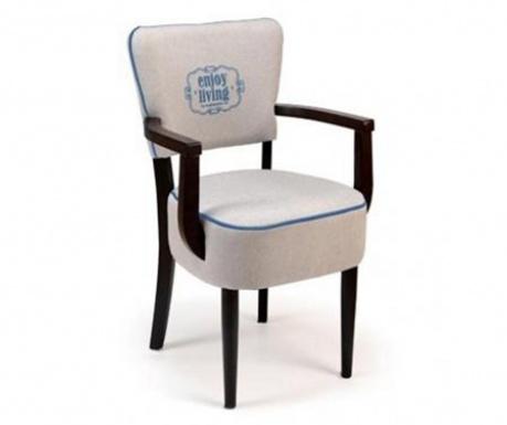 Καρέκλα Nisa Grey Braided Arms Classic