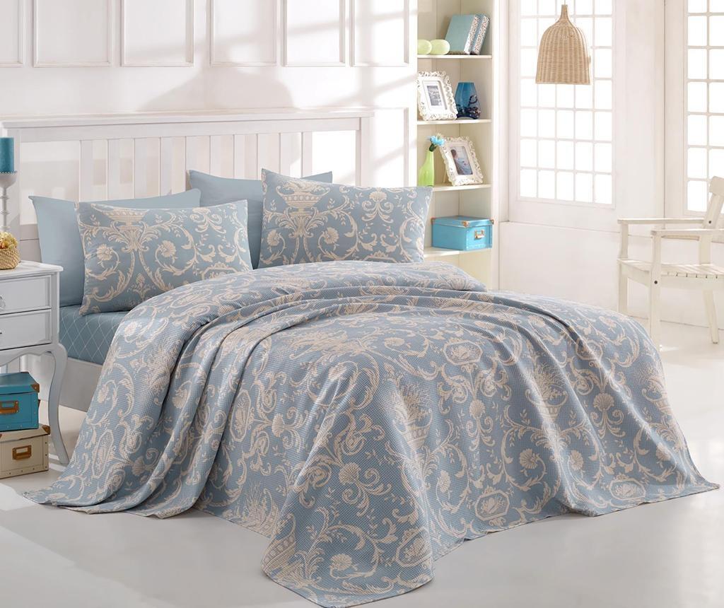 Prekrivač Pique Tuval Blue 220x260 cm