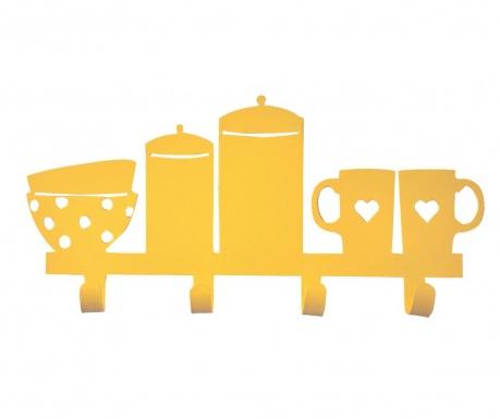 Obešalnik Bowls and Cups Yellow