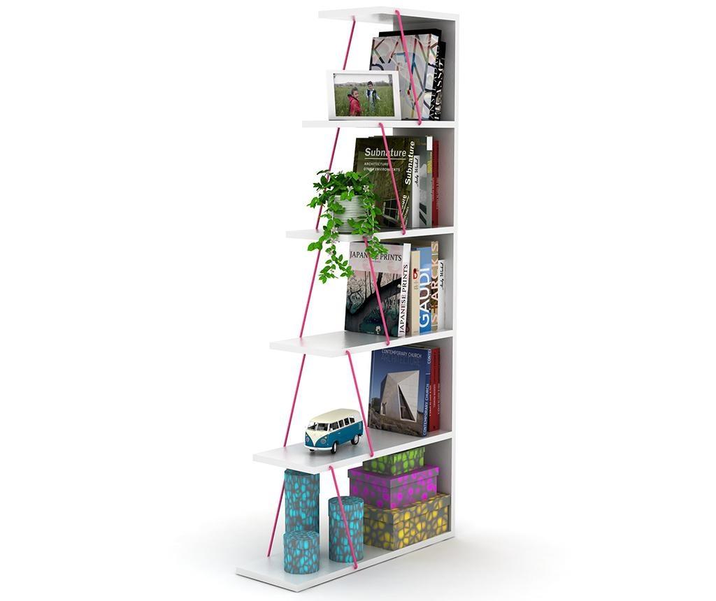 Corp biblioteca Tars White Pink