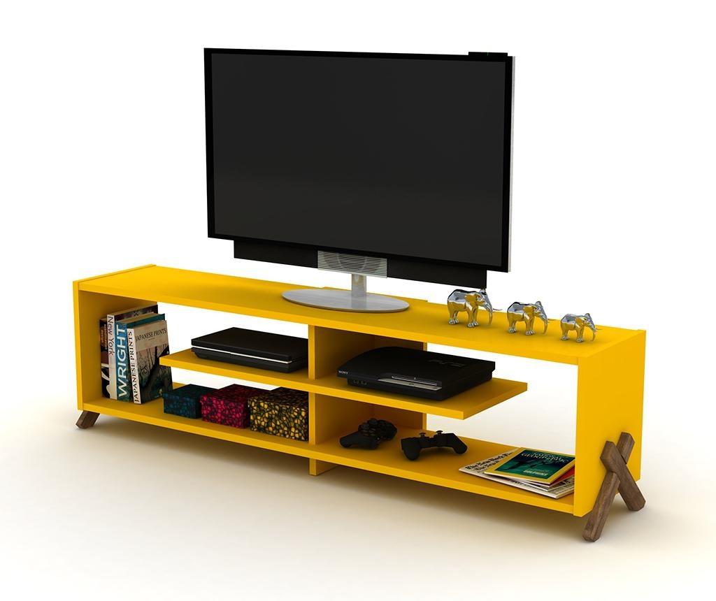 TV Komoda Kipp Walnut Yellow
