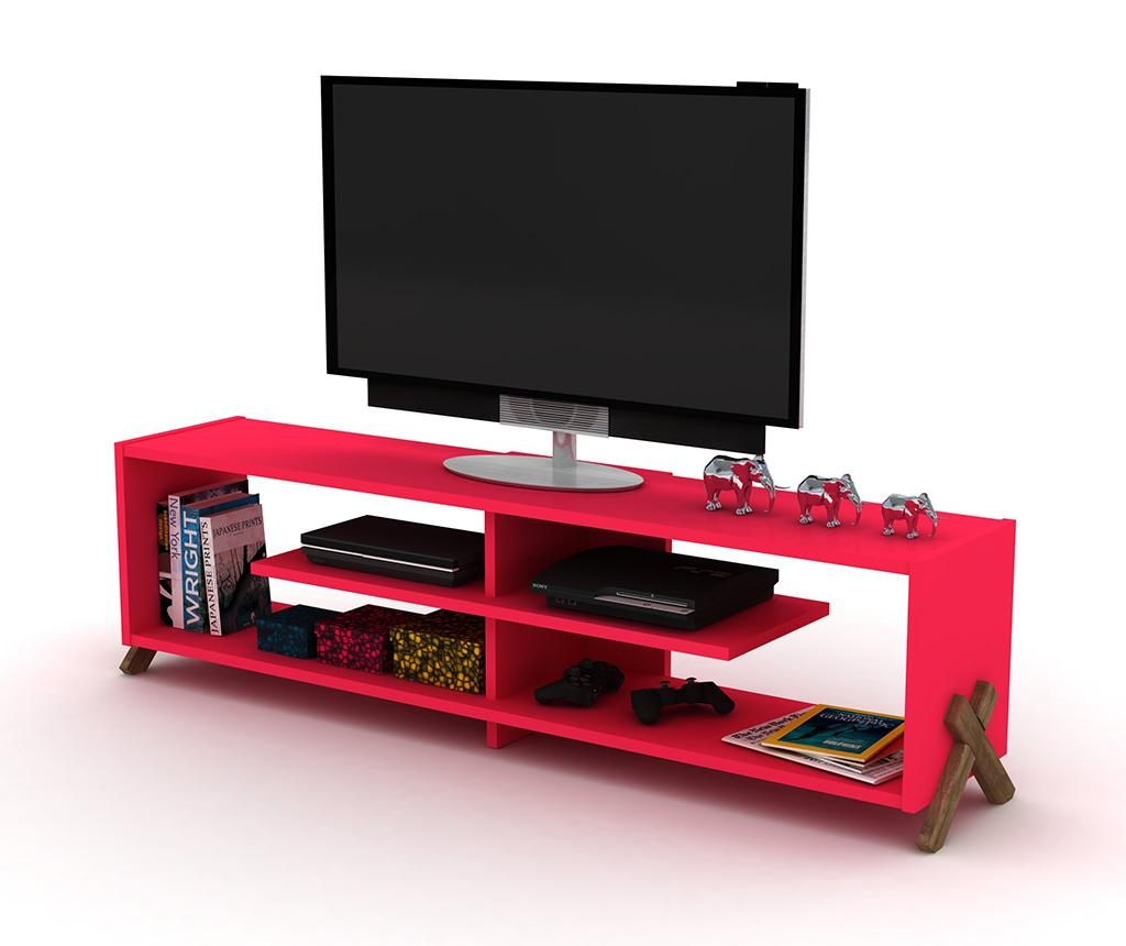 Comoda TV Kipp Walnut Pink