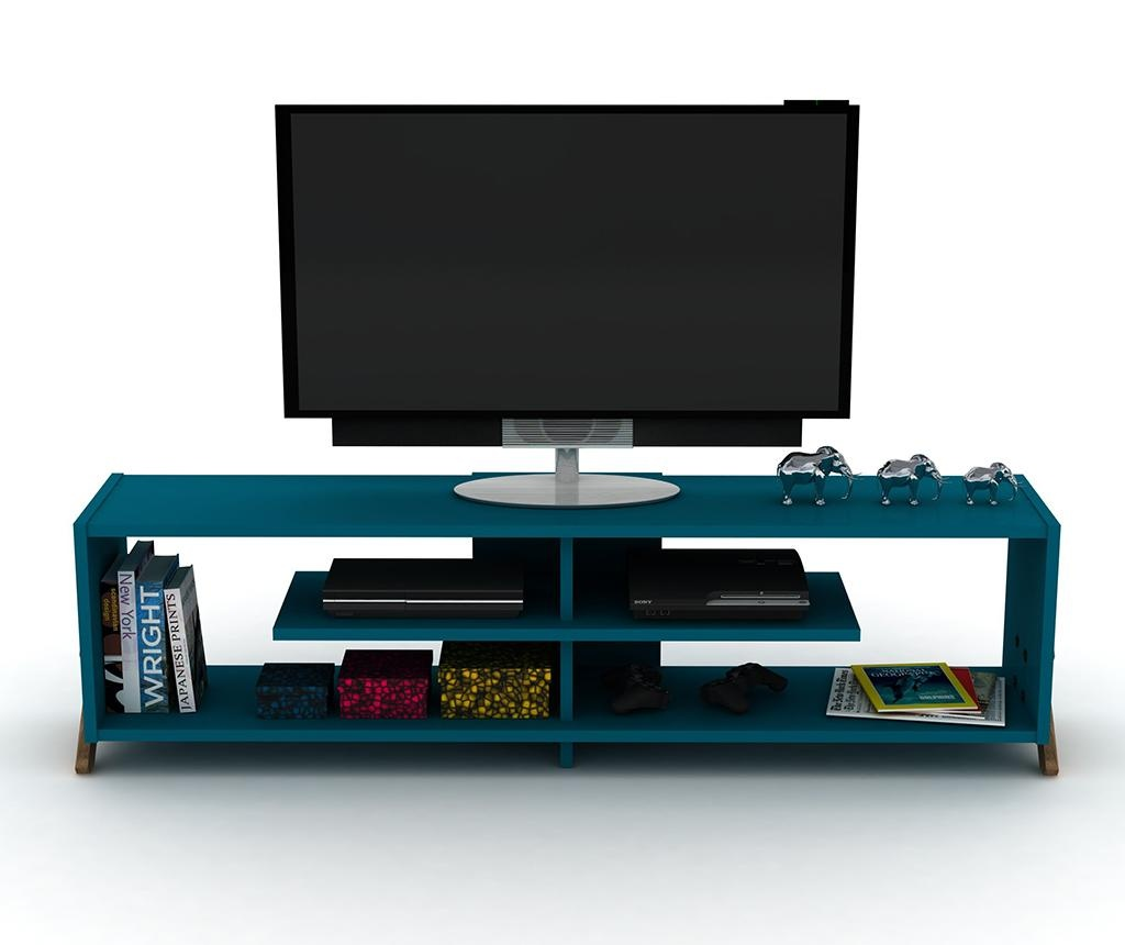 TV komoda Kipp Walnut Blue