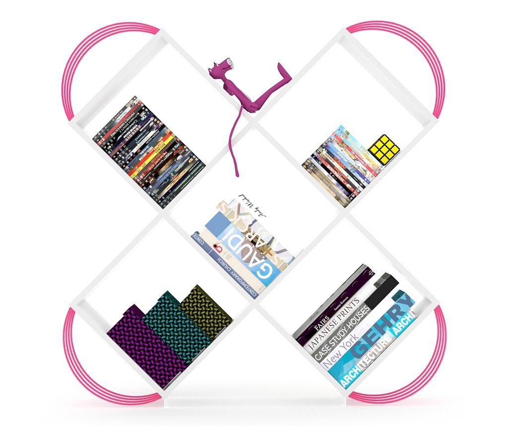 Knjižni regal Case White Pink