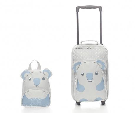 Sada cestovní kufr na kolečkách a školní batoh pro děti Koala