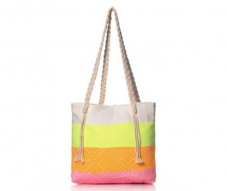 Плажна чанта Waves Neon Orange and Lime