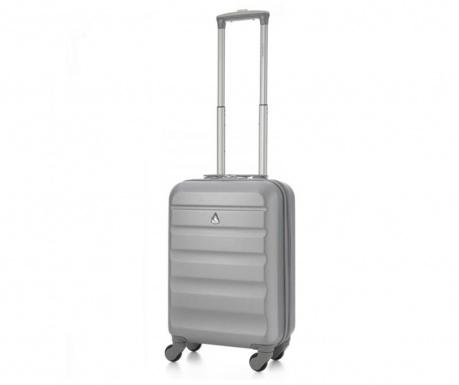 Cestovní kufr na kolečkách Aerolite Adelaide Silver 35 L