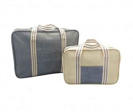 Комплект 2 термоизолиращи чанти Snap Grey Stripe