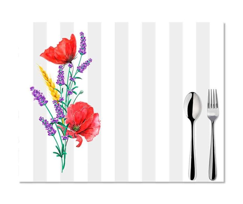 Set 2 individualuri Poppy and Lavender 33x45 cm