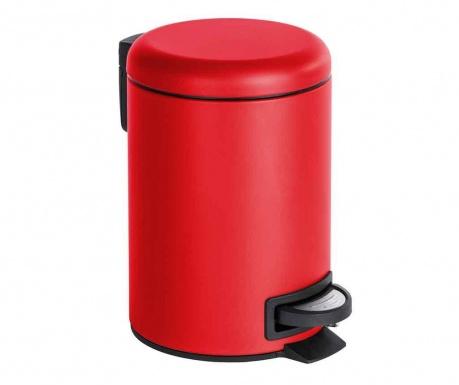 Κάδος απορριμμάτων με καπάκι και πεντάλ Leman Red 3 L