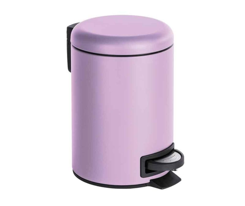 Koš za smeti s pedalom Leman Lilac 3 L