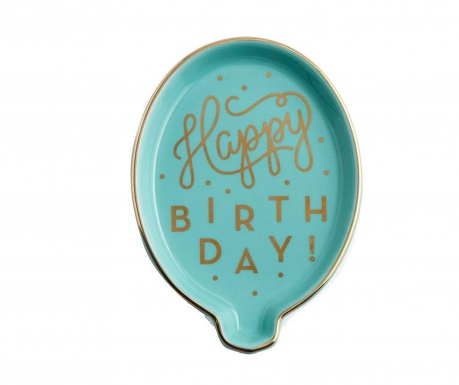 Ukrasni pladanj Happy Birthday