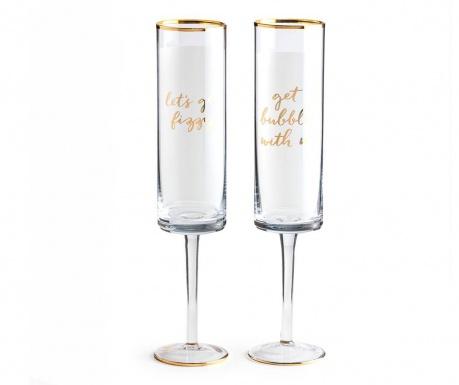 Set 2 čaše za šampanjac Bubbly Fizz 300 ml