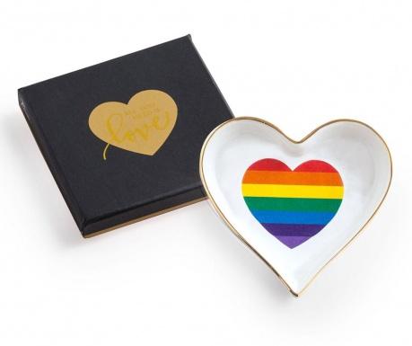 Ukrasni pladanj Rainbow Heart