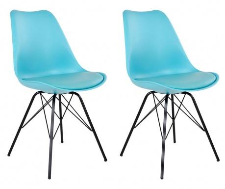 Sada 2 stoličiek Olso Light Blue Black