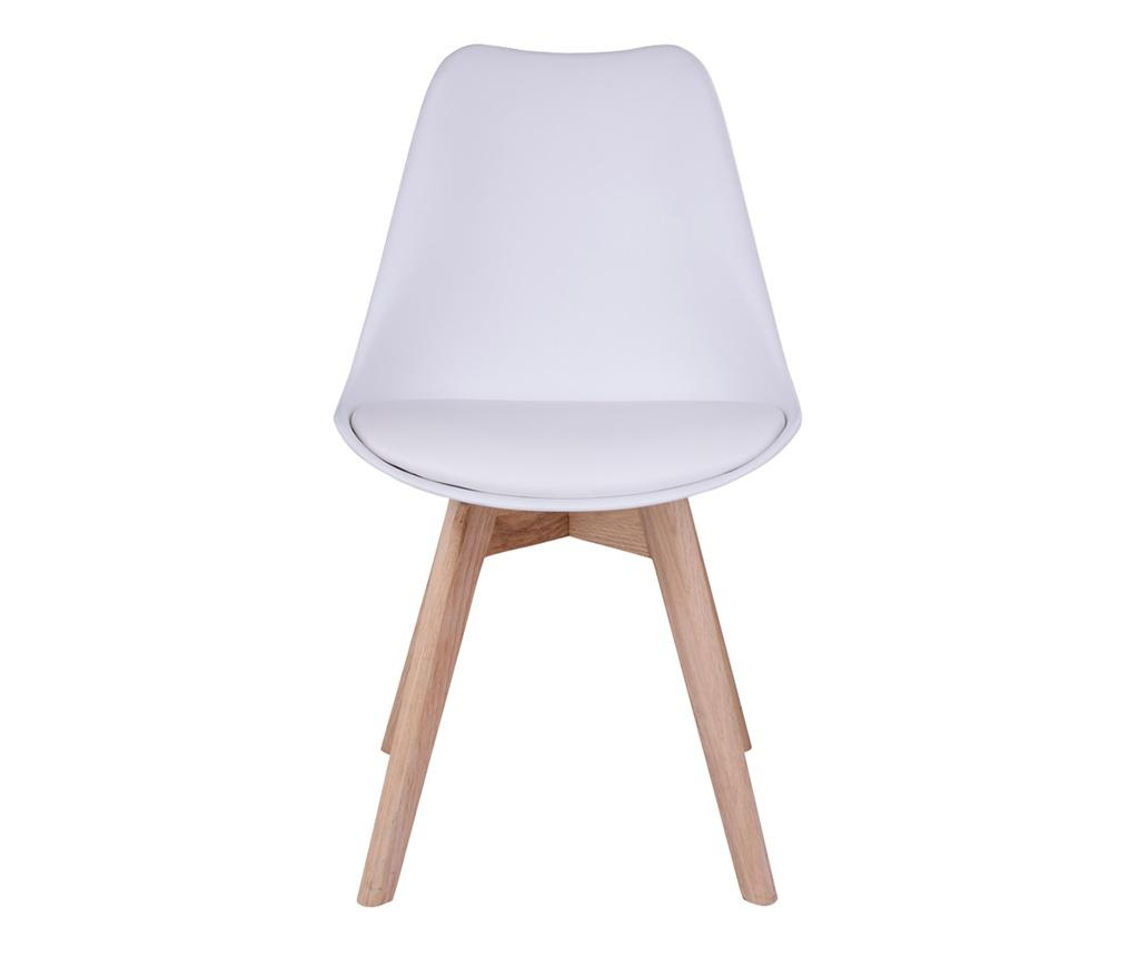 Set 2 scaune Molde White Natural