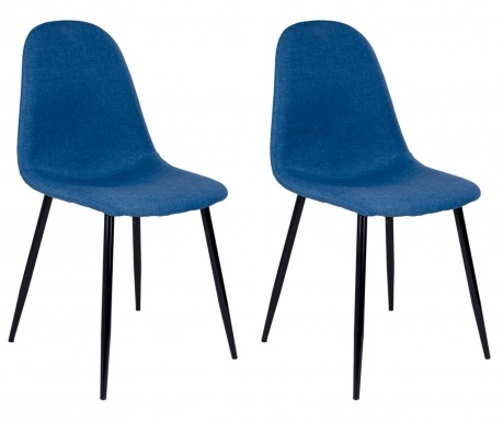 Sada 2 stoličiek Stockholm Fabric Blue