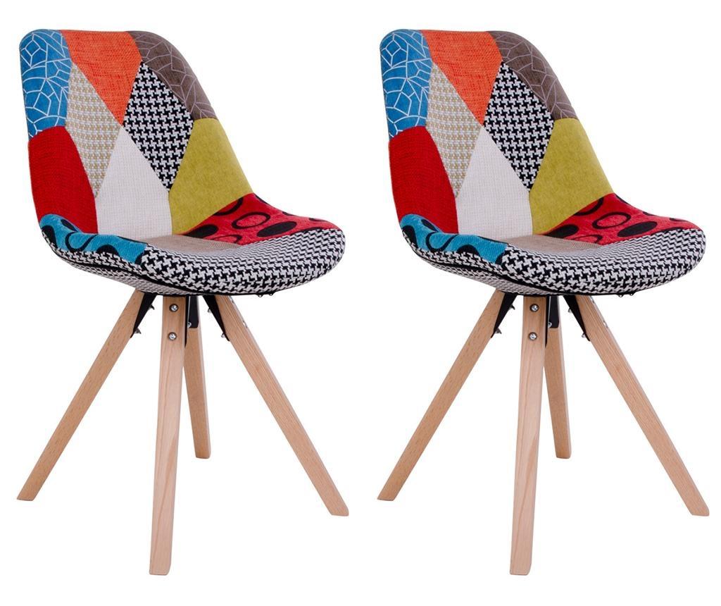 Set 2 stolice Sanvik Patchwork