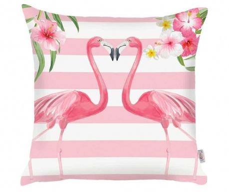 Fata de perna Flamingo Love Story White and Pink 43x43 cm