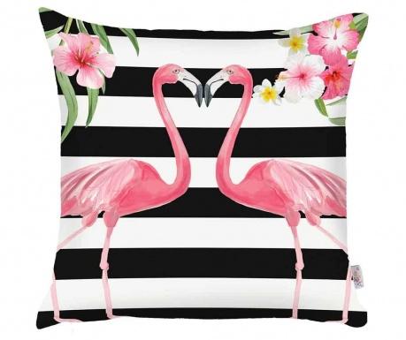Fata de perna Flamingo Love Story White and Black 43x43 cm