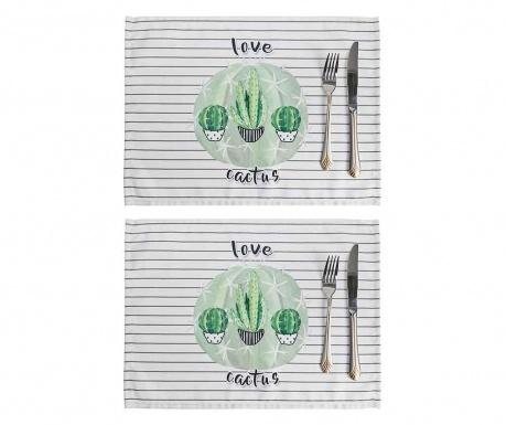 Set 2 individualuri Love Cactus 33x45 cm