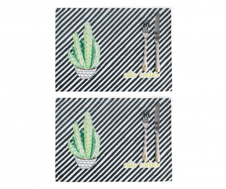 Set 2 individualuri Cute Cactus 33x45 cm