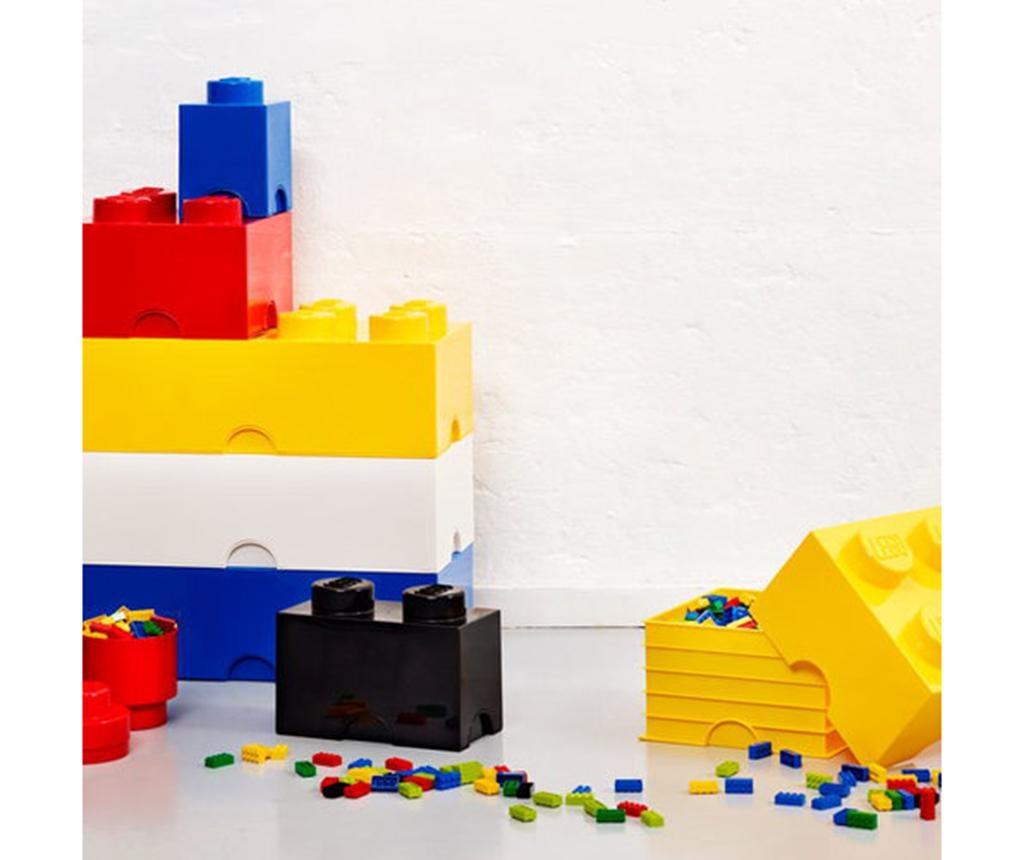 Cutie cu capac Lego Square Four Yellow
