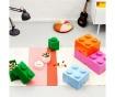 Cutie cu capac Lego Square Four Orange