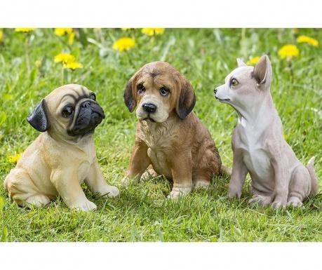Sada 3 záhradných dekorácií Erni Dogs