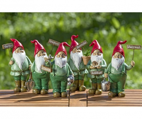 Sada 6 záhradných dekorácií Herby