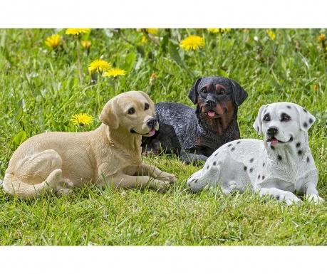 Sada 3 záhradných dekorácií Eddie Dogs