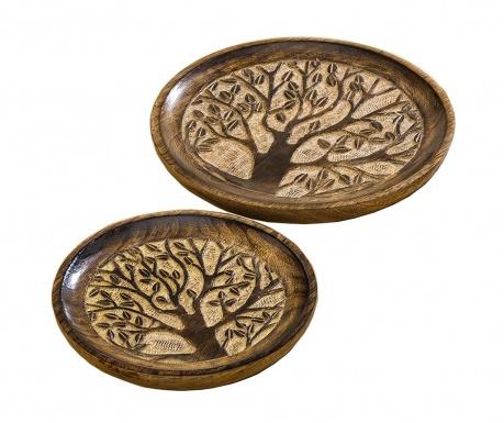 Set 2 platouri decorative Tree