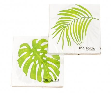 Set 2 pachete de servetele Leaf Camilla