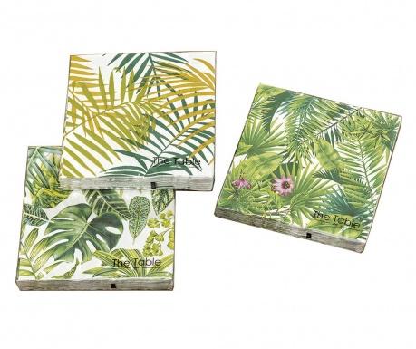 Set 3 pachete de servetele Leaf Phino