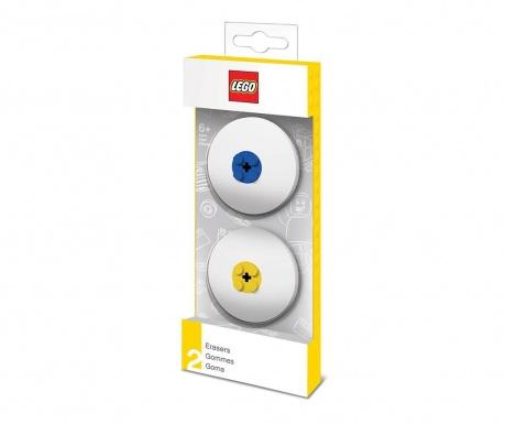 Lego Blue Yallow 2 db Radírgumi
