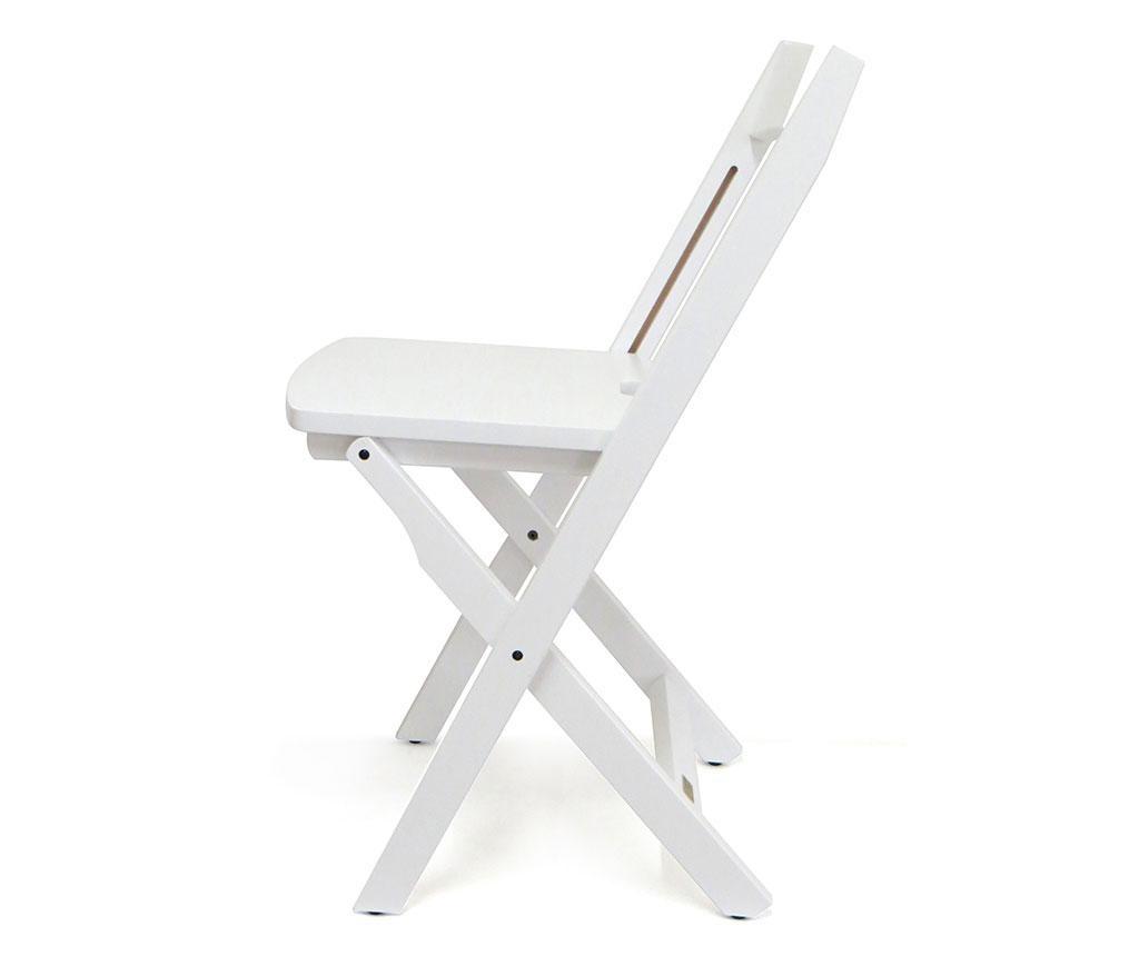 Set 2 scaune pliabile Diana White