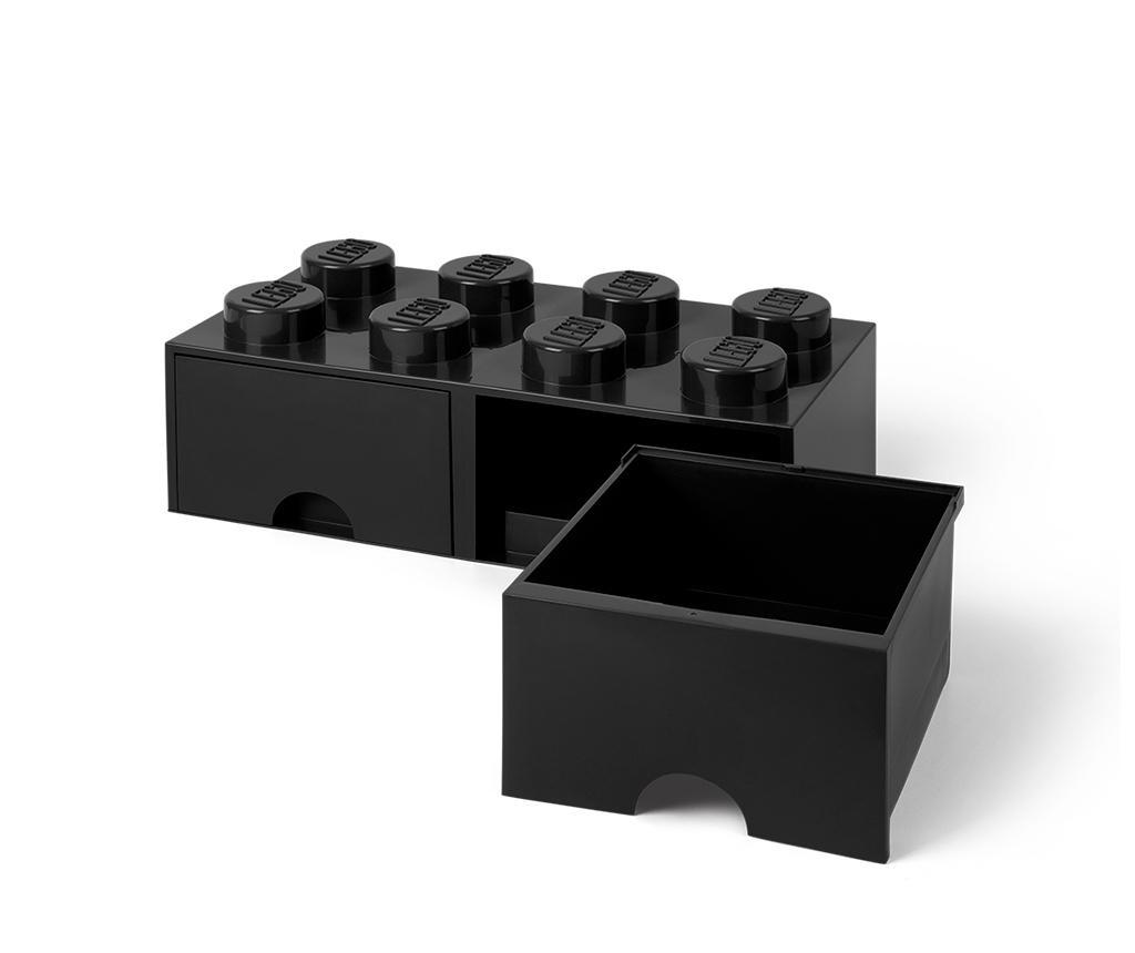 Cutie pentru depozitare Lego Square Duo Black