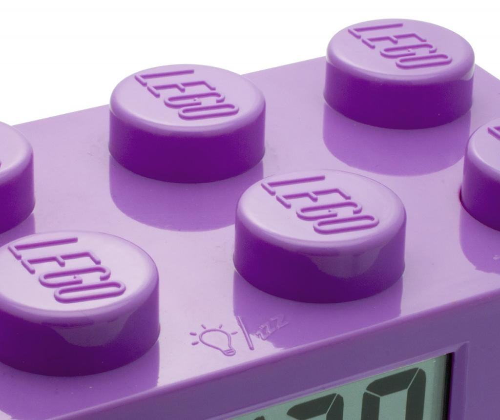 Budilka Lego Brick Monden Violet