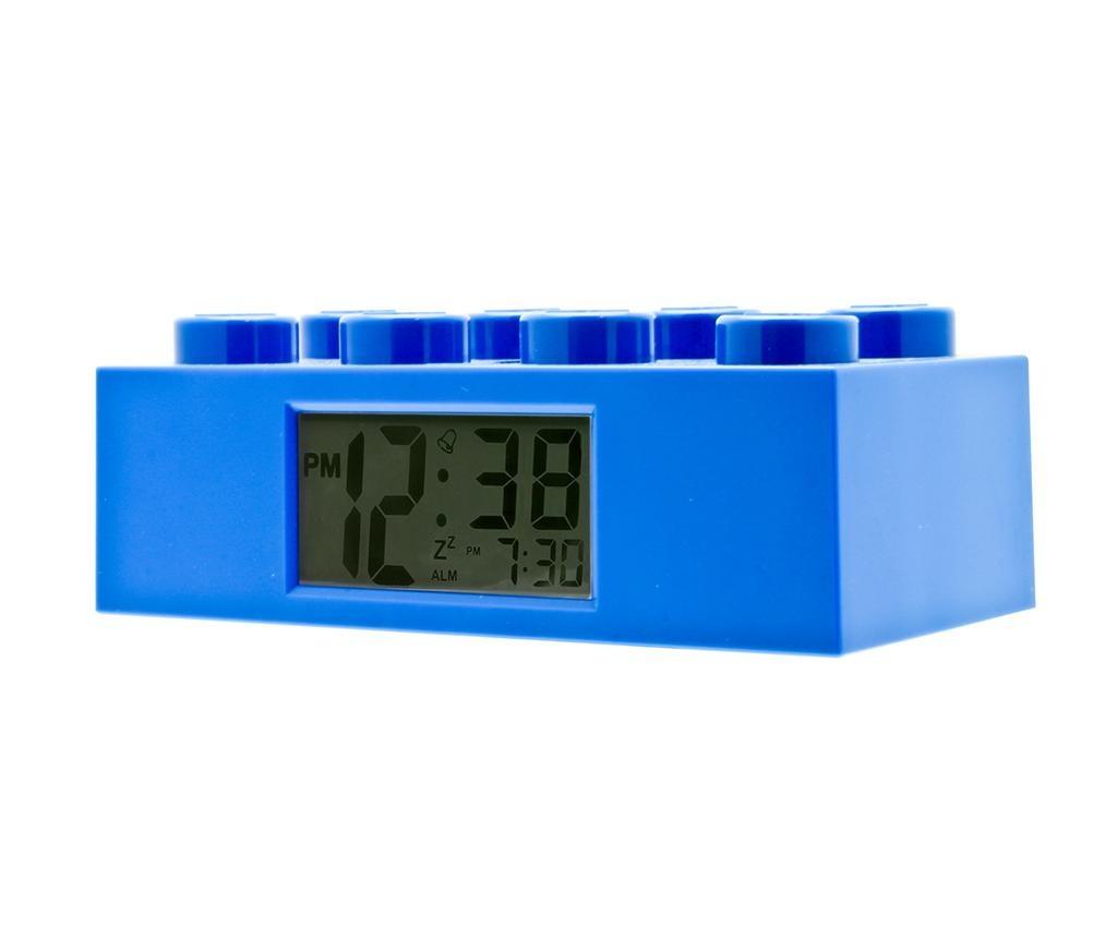 Budilka Lego Brick Monden Blue