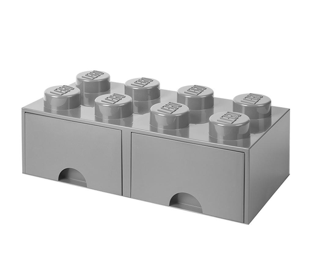 Shranjevalna škatla Lego Square Duo Grey