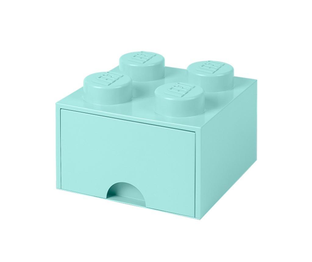 Shranjevalna škatla Lego Square One Turquoise