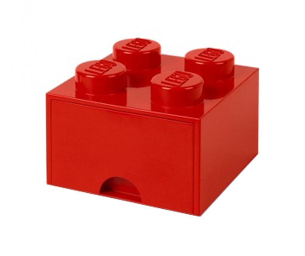 Cutie pentru depozitare Lego Square One Red