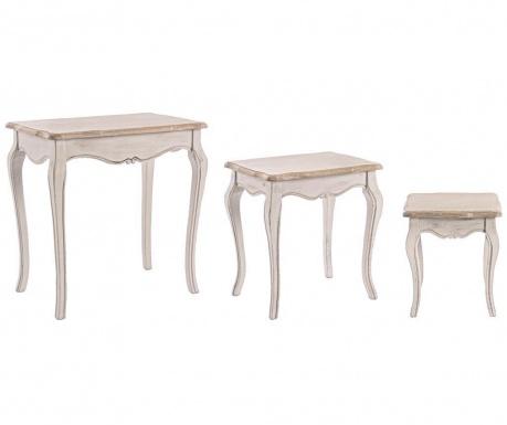 Sada 3 stolíkov Clarisse