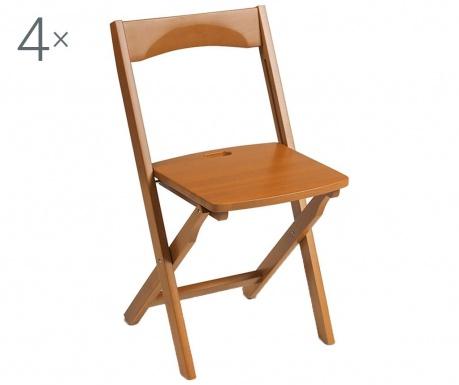 Комплект 4 сгъваеми стола Diana Brown