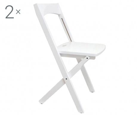 Комплект 2  сгъваеми стола Diana White