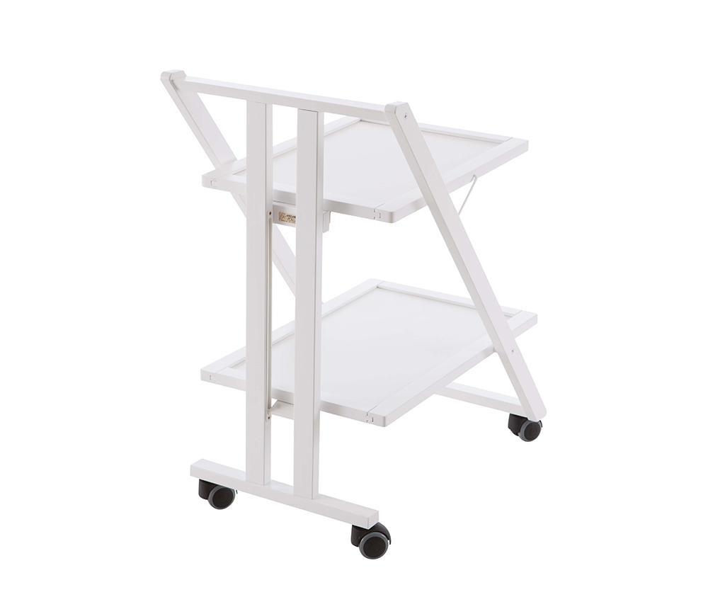 Zložljiv servirni voziček Simpaty Off White