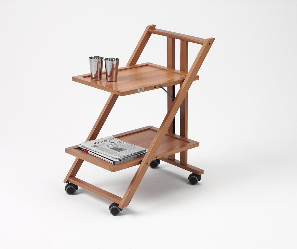 Sklopiva kolica za posluživanje Simpaty Brown