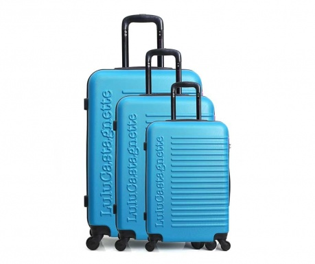Set 3 kovčkov Lulu Classic Blue